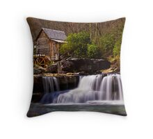 Falls At the Mill Throw Pillow