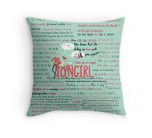 Fangirl + Quotes Throw Pillow