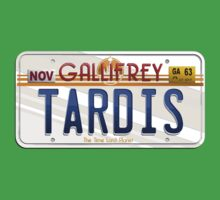 TARDIS License Plate One Piece - Short Sleeve