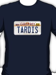TARDIS License Plate T-Shirt