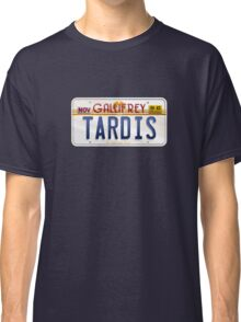 TARDIS License Plate Classic T-Shirt