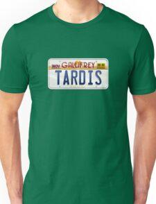 TARDIS License Plate Unisex T-Shirt