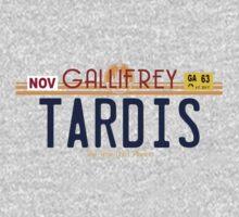 TARDIS License Plate 2 One Piece - Short Sleeve