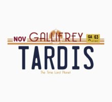 TARDIS License Plate 2 Kids Tee