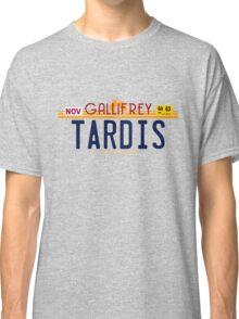 TARDIS License Plate 2 Classic T-Shirt