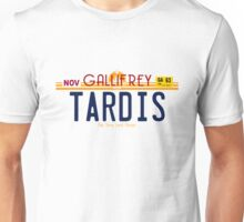 TARDIS License Plate 2 Unisex T-Shirt