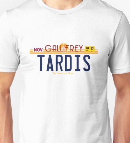 TARDIS License Plate 2 Unisex T-Shirt