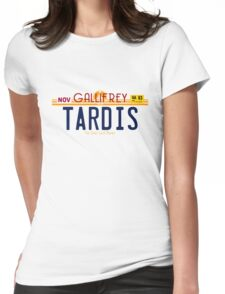 TARDIS License Plate 2 Womens Fitted T-Shirt