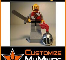 Customize My Minifig Collector Card 14 - Custom LEGO® 'Lion Heart Knight' by Chillee
