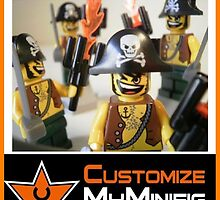 Customize My Minifig Collector Card 18 - Custom LEGO® 'Pirate Captain' by Chillee
