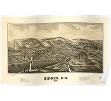 Panoramic Maps Sidney NY 1887 Poster