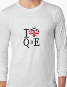 I heart Queen Elizabeth  Long Sleeve T-Shirt