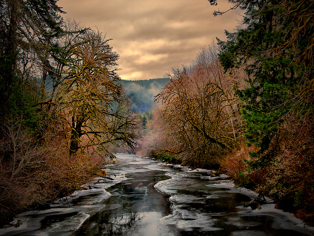 Snow Glow and Light by Charles & Patricia   Harkins ~ Picture Oregon