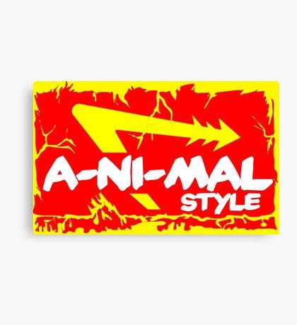 Animal Style Canvas Print