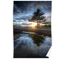 Sunset & Puddle Reflections 2.0 Poster