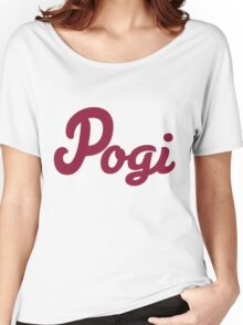 Maroon Pogi Women's Relaxed Fit T-Shirt
