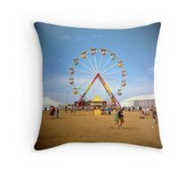 all the world's a ferris wheel Throw Pillow