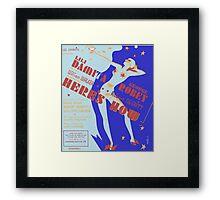 MINE FOR KEEPS (vintage illustration) Framed Print