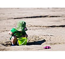 The Green Hat Photographic Print