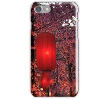 Pink Cherry Blossom Red Lanterns iPhone Case/Skin