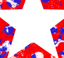 Captain America Splatters Sticker