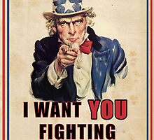 Uncle Sam wants you to FIGHT ZOMBIES by SixPixeldesign