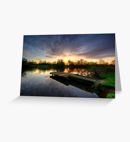 Jetty Sunrise 2.0 Greeting Card