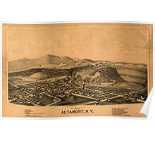 Panoramic Maps Altamont NY Poster