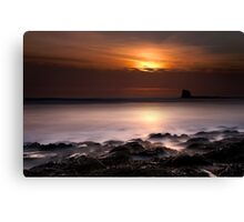 Saltwick Bay in the morning Canvas Print