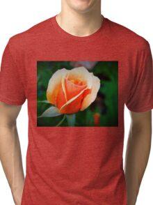 Peach rosebud Tri-blend T-Shirt