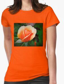 Peach rosebud Womens Fitted T-Shirt