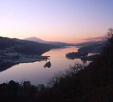 Queen's View over Loch Tummel,  Schiehallion in the distance. Scotland.  by LBMcNicoll
