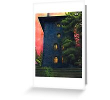 Blue Castle Greeting Card