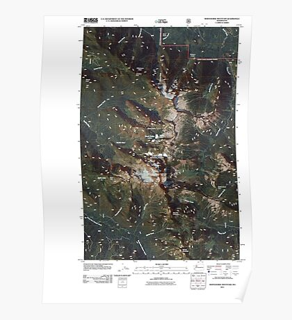 USGS Topo Map Washington State WA Whitehorse Mountain 20110510 TM Poster