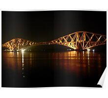 Floodlit:  The Forth Rail Bridge. Poster