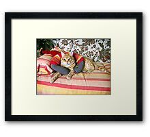 Who said snakes can't be good friends? Framed Print