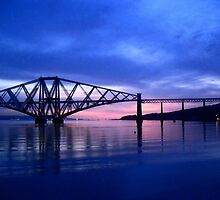 The Rail Bridge:  Dawning of the Day by LBMcNicoll
