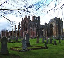 Melrose Abbey, the Scottish Borders. by LBMcNicoll