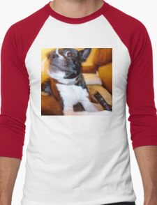Boston Terrier treat Men's Baseball ¾ T-Shirt