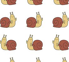 Adventure Time Snail - Small Sticker Set by joshdbb