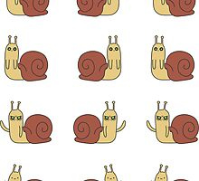 Adventure Time Snail - Small Possessed Sticker Set by joshdbb