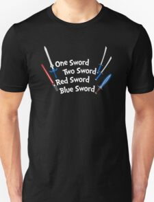 One Sword, Two Sword, Red Sword, Blue Sword Unisex T-Shirt