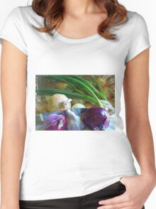 Onions in the Bag Women's Fitted Scoop T-Shirt