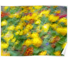 Flowers 3 - Impressionist photography Poster