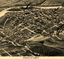 Panoramic Maps Perspective map of Missoula Mont county seat of Missoula County Sticker