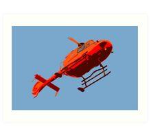 helicopter pop-art Art Print