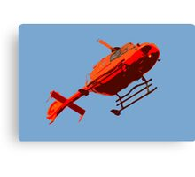 helicopter pop-art Canvas Print
