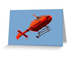 helicopter pop-art Greeting Card