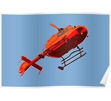 helicopter pop-art Poster