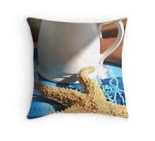 Breakfast At The Beach  Throw Pillow